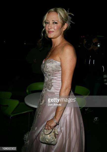 Amber Petty arrives at her 40th birthday celebration attended by her friend Crown Princess Mary of Denmark at The Promethean on August 21 2010 in...