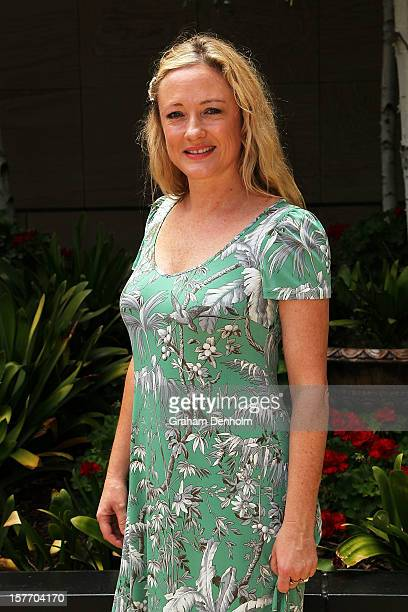 Amber Petty poses as she attends the Women In Media Christmas Luncheon held at Breezes restaurant Crown Towers on December 6 2012 in Melbourne...