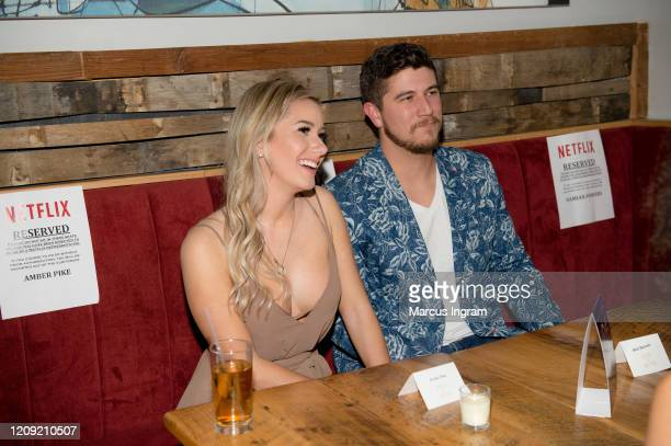 Amber Pike and Matt Barnett attend Netflix's Love is Blind VIP viewing party at City Winery on February 27 2020 in Atlanta Georgia