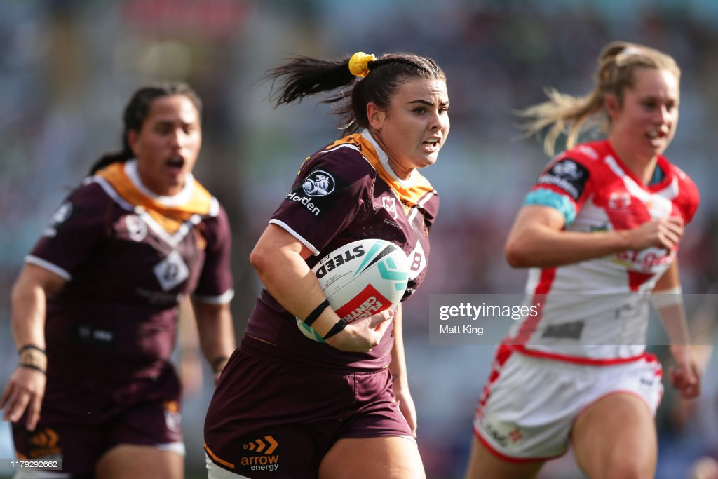 2019 NRLW Grand Final - Broncos v Dragons : News Photo