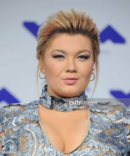 Amber Portwood arrives at the 2017 MTV Video Music Awards at The Forum on August 27 2017 in Inglewood California