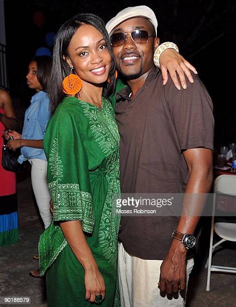 Amber Rasberry and producer Will Packer attend Teri J Vaughn's birthday party at a Private Residence on August 29 2009 in Atlanta Georgia