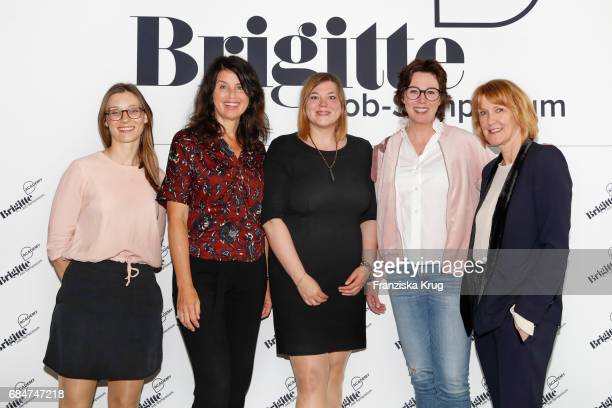 Amber Riedl editor in chief of 'Brigitte' Brigitte Huber Katharina Fegebank Ildiko von Kuerthy and Christiane Funken during the BRIGITTE Job...