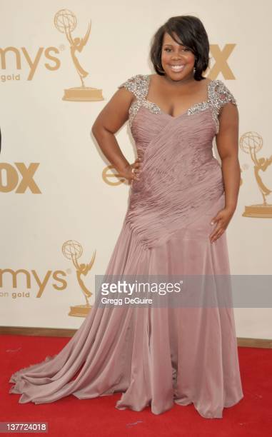 Amber Riley arrives at the Academy of Television Arts Sciences 63rd Primetime Emmy Awards at Nokia Theatre LA Live on September 18 2011 in Los...