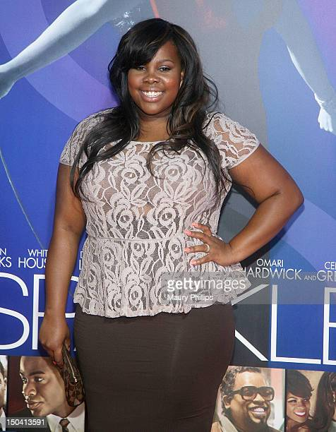 Amber Riley arrives at the Los Angeles Premiere of 'Sparkle' at Grauman's Chinese Theatre on August 16 2012 in Hollywood California