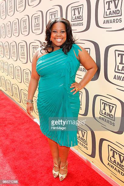 Amber Riley arrives to the 8th Annual TV Land Awards held at Sony Pictures Studios on April 17 2010 in Culver City California