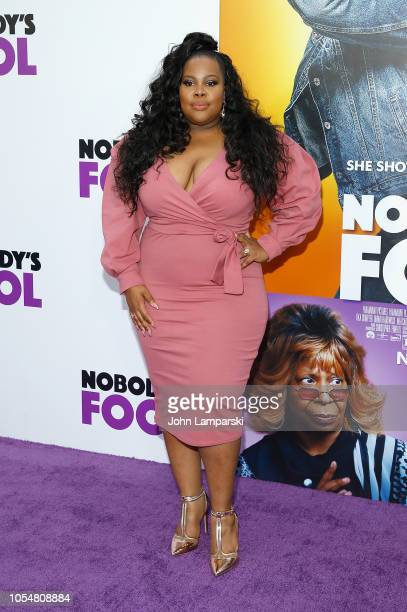 Amber Riley attends Nobody's Fool New York Premiere at AMC Lincoln Square Theater on October 28 2018 in New York City