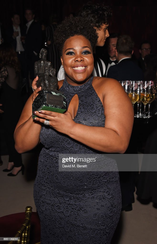Amber Riley attends the London Evening Standard Theatre Awards 2017 after party at the Theatre Royal, Drury Lane, on December 3, 2017 in London, England.