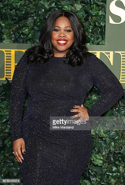 Amber Riley attends The London Evening Standard Theatre Awards at The Old Vic Theatre on November 13 2016 in London England