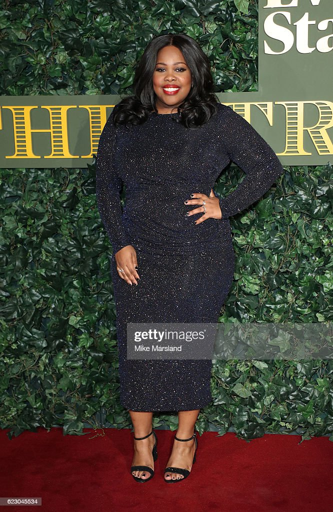 Amber Riley attends The London Evening Standard Theatre Awards at The Old Vic Theatre on November 13, 2016 in London, England.