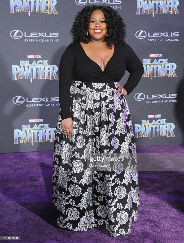 Amber Riley attends the Los Angeles Premiere 'Black Panther' at Dolby Theatre on January 29, 2018 in Hollywood, California.