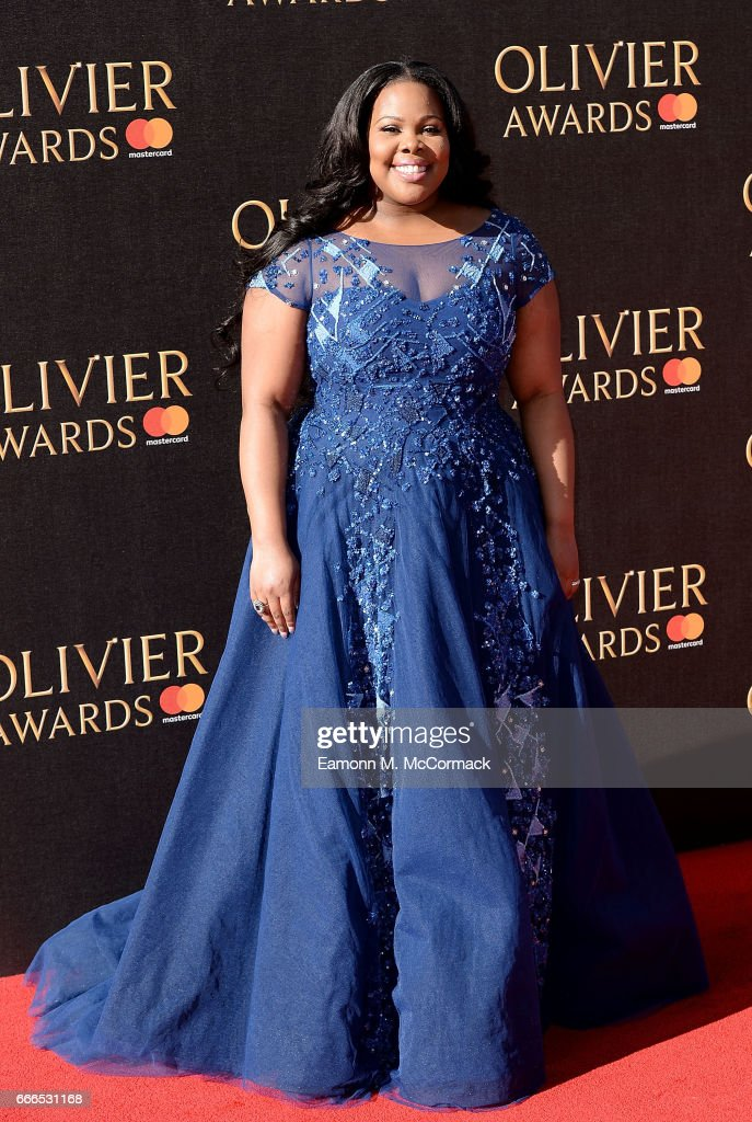 Amber Riley attends The Olivier Awards 2017 at Royal Albert Hall on April 9, 2017 in London, England.