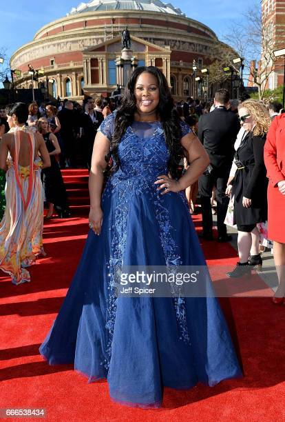 Amber Riley attends The Olivier Awards 2017 at Royal Albert Hall on April 9 2017 in London England