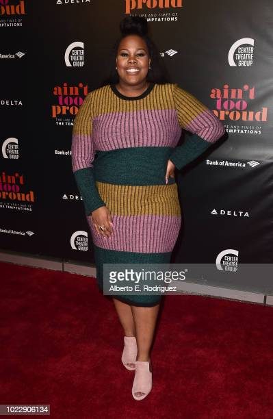 Amber Riley attends the Opening Night of Ain't Too Proud The Life And Times Of The Temptations at the Ahmanson Theatre on August 24 2018 in Los...