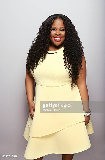 Amber Riley is photographed at the 2016 Black Women in Hollywood Luncheon for Essencecom on February 25 2016 in Los Angeles California