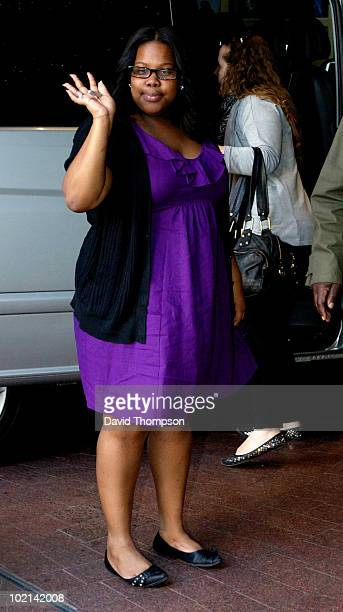 Amber Riley returning to her hotel on June 16 2010 in London England