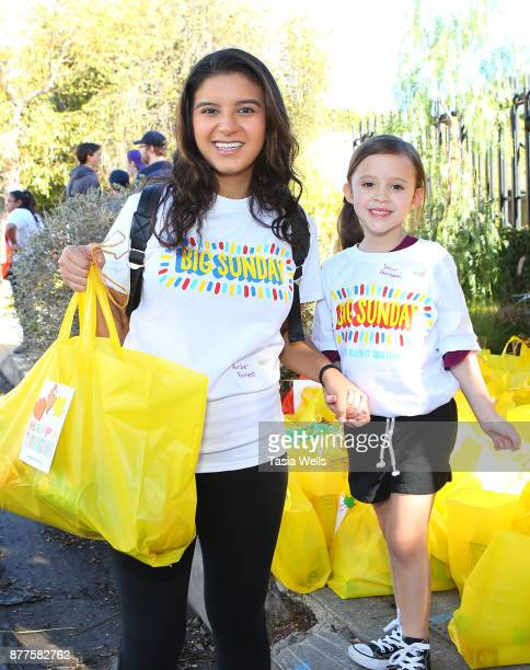 Amber Romero and Drew Gordon at Big Sunday's 6th Annual BIG Thanksgiving Stuffing Event at Big Sunday Headquarters on November 22 2017 in Los Angeles...