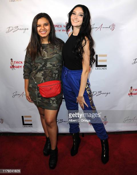 Amber Romero and Makayla Phillips attend the DBANGZ And Lil Boom Thick N Already Dead Concert held at The PCH Club on October 4 2019 in Long Beach...