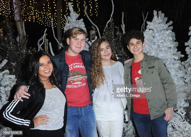Amber Romero Connor Dean Alyssa de Boisblanc and Jax Malcolm attends the LA Zoo Lights Special Preview/VIP Night held at Los Angeles Zoo on November...