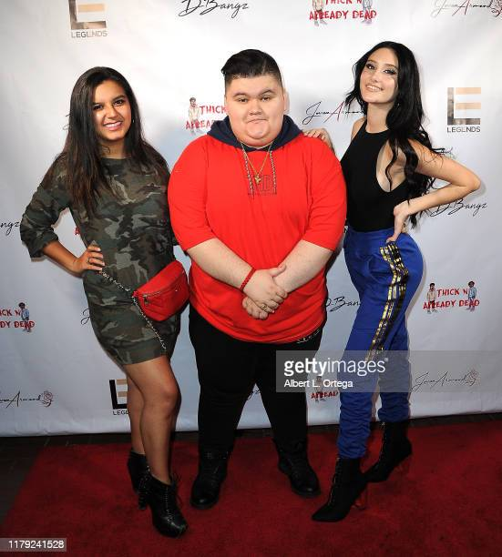 Amber Romero Jovan Armand and Makayla Phillips attend the DBANGZ And Lil Boom Thick N Already Dead Concert held at The PCH Club on October 4 2019 in...
