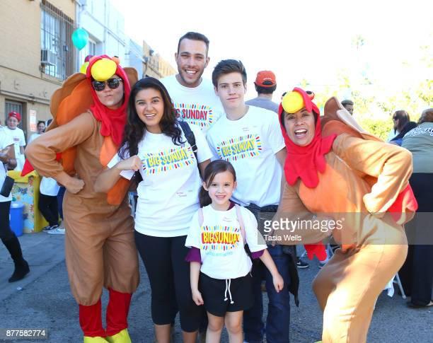 Amber Romero Lucas Lockwood Drew Gordon and Lofton Shaw at Big Sunday's 6th Annual BIG Thanksgiving Stuffing Event at Big Sunday Headquarters on...