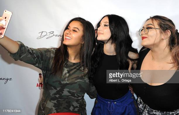 Amber Romero Makayla Phillips and Cameron Friday attend the DBANGZ And Lil Boom Thick N Already Dead Concert held at The PCH Club on October 4 2019...