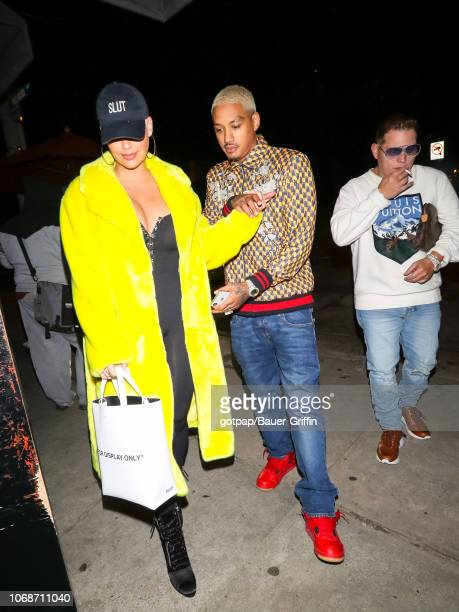 Amber Rose Alexander 'AE' Edwards and Scott Storch are seen on December 04 2018 in Los Angeles California