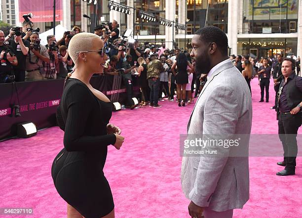 Amber Rose and Adam Blackstone attend the VH1 Hip Hop Honors All Hail The Queens at David Geffen Hall on July 11 2016 in New York City