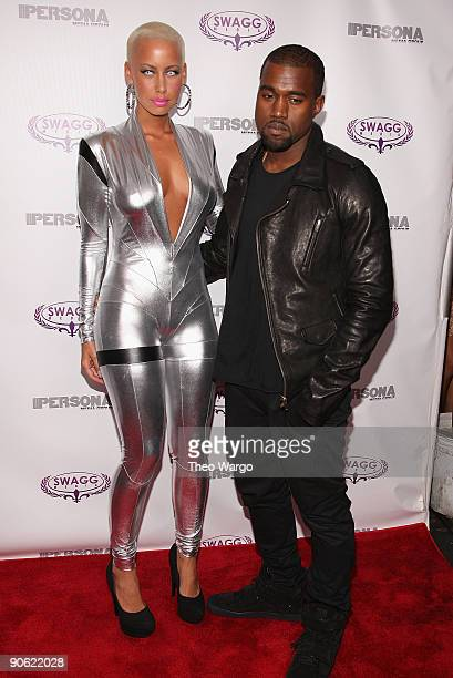 Amber Rose and Kanye West attend SwaggMedia's Persona Magazine Launch with Amber Rose hosted by Russell Simmons at The Griffin on September 11 2009...