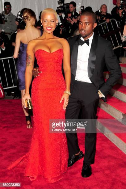Amber Rose and Kanye West attend THE COSTUME INSTITUTE GALA The Model As Muse with Honorary Chair MARC JACOBS ARRIVALS at The Metropolitan Museum of...