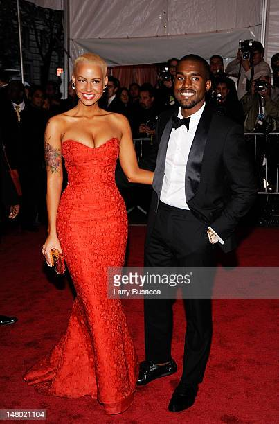 """Amber Rose and rapper Kanye West attend """"The Model as Muse: Embodying Fashion"""" Costume Institute Gala at The Metropolitan Museum of Art on May 4,..."""