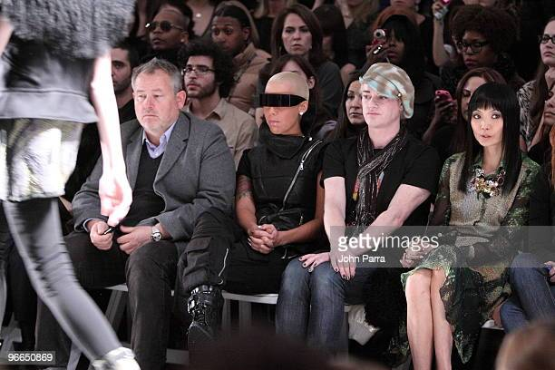 Amber Rose and Richie Rich attend Nicole Miller Fall 2010 during MercedesBenz Fashion Week at Bryant Park on February 12 2010 in New York City