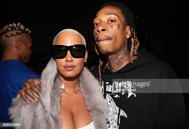 Amber Rose and Wiz Khalifa attend Wiz Khalifa's album listening event on February 3 2016 in New York City