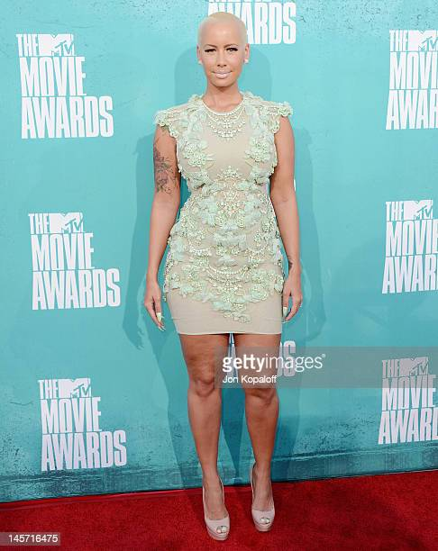 Amber Rose arrives at the 2012 MTV Movie Awards at Gibson Amphitheatre on June 3, 2012 in Universal City, California.