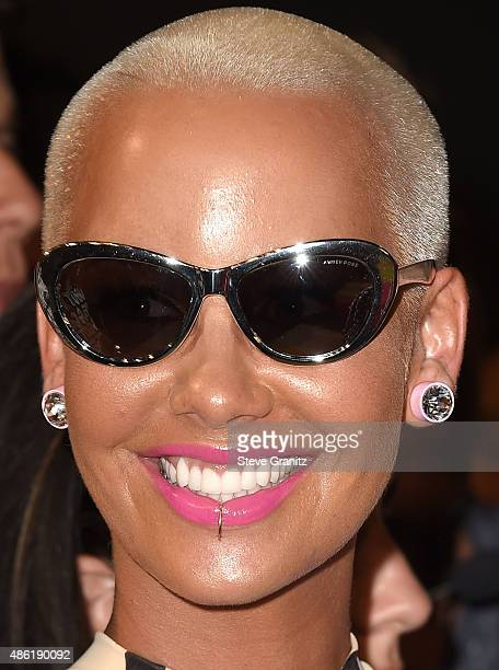 Amber Rose arrives at the 2015 MTV Video Music Awards at Microsoft Theater on August 30 2015 in Los Angeles California