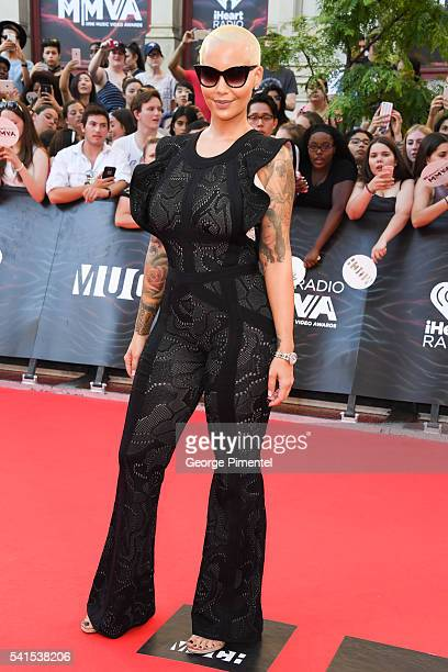 Amber Rose arrives at the 2016 iHeartRADIO MuchMusic Video Awards at MuchMusic HQ on June 19 2016 in Toronto Canada
