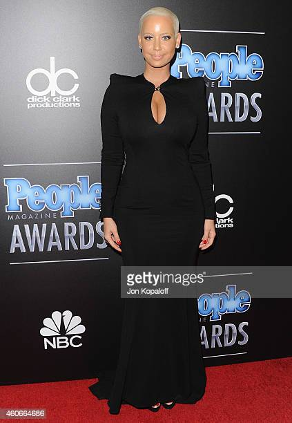 Amber Rose arrives at The PEOPLE Magazine Awards at The Beverly Hilton Hotel on December 18 2014 in Beverly Hills California
