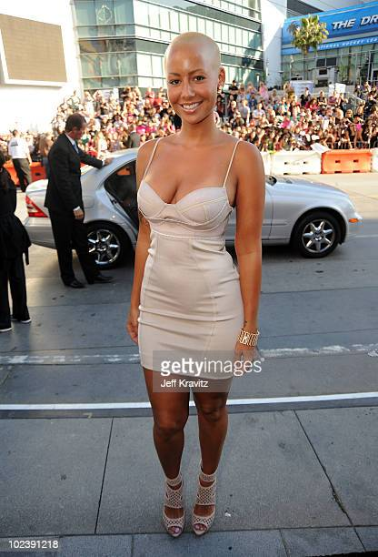 Amber Rose arrives at the premiere of Summit Entertainment's 'The Twilight Saga Eclipse' during the 2010 Los Angeles Film Festival at Nokia Theatre...