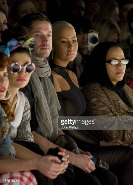 Amber Rose Attending The Ashish Fashion Show Held At The Bfc Venue In Central London As Part Of London Fashion Week