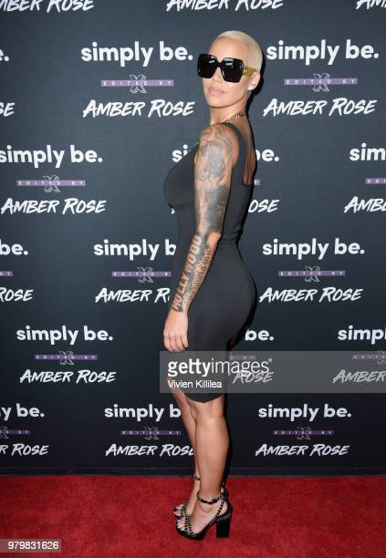 Amber Rose attends Amber Rose x Simply Be Launch Party at Bootsy Bellows on June 20, 2018 in West Hollywood, California.