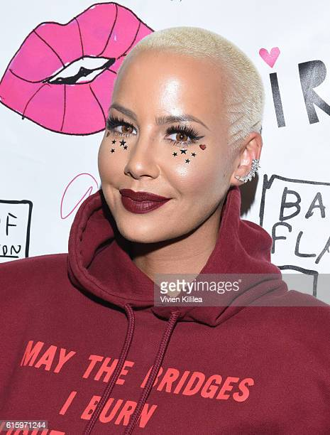 Amber Rose attends Flirt Cosmetics x Amber Rose Event on October 20 2016 in Los Angeles California