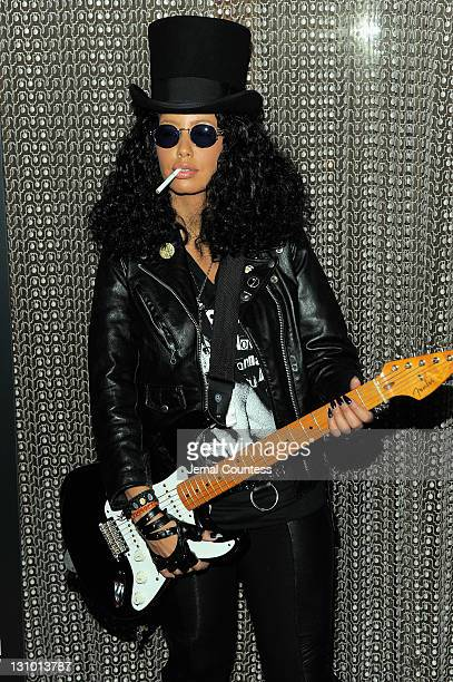 Amber Rose attends Heidi Klum's 12th annual Halloween party at the PHD Rooftop Lounge at Dream Downtown on October 31 2011 in New York City