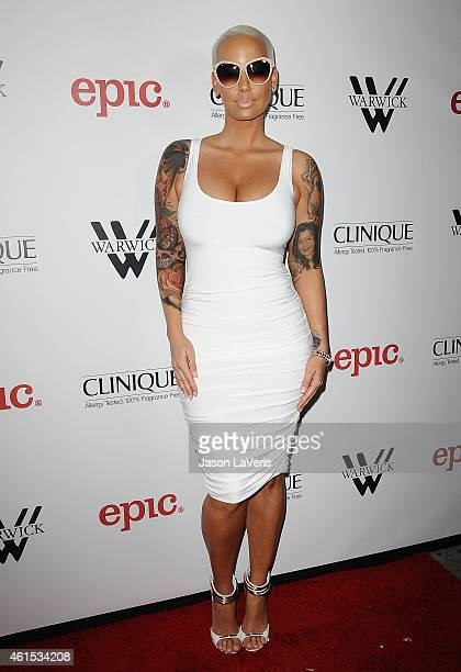 Amber Rose attends Meghan Trainor's record release party for her debut album 'Title' at Warwick on January 13 2015 in Hollywood California