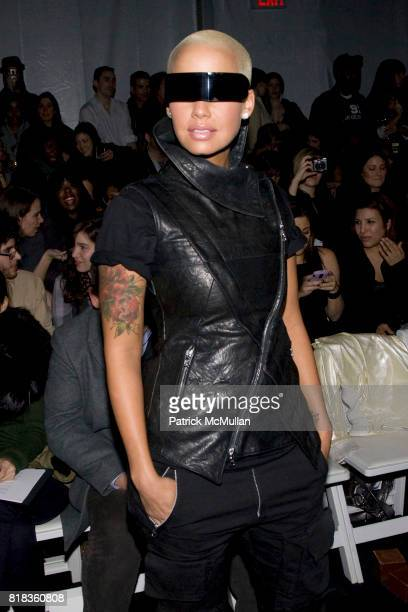 Amber Rose attends NICOLE MILLER Fall 2010 Collection at Bryant Park Tents on February 12 2010 in New York City
