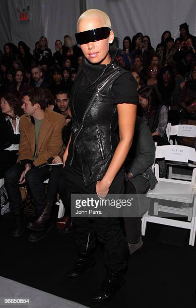Amber Rose attends Nicole Miller Fall 2010 during MercedesBenz Fashion Week at Bryant Park on February 12 2010 in New York City