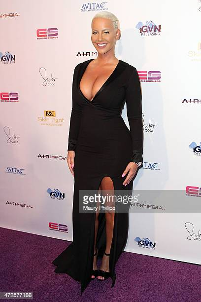 Amber Rose attends Sister Code Los Angeles premiere at Universal Studios AMC on May 7 2015 in Universal City California