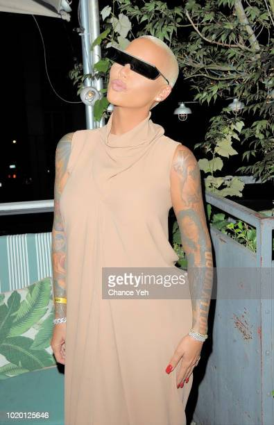 Amber Rose attends Sujit Kundu birthday celebration at Catch on August 19, 2018 in New York City.
