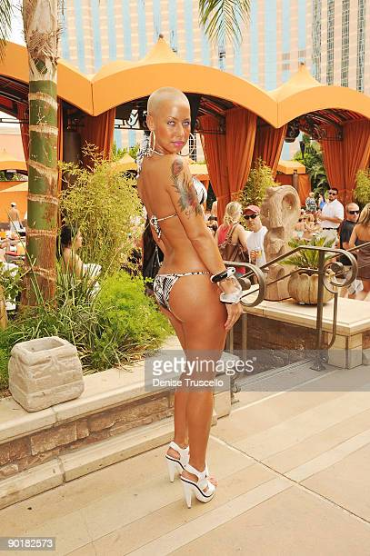 Amber Rose attends TAO Beach at The Venetian Hotel and Casino Resort on August 29 2009 in Las Vegas Nevada