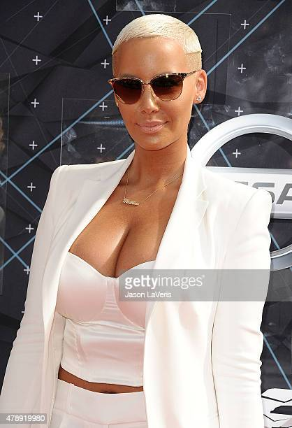 Amber Rose attends the 2015 BET Awards at the Microsoft Theater on June 28 2015 in Los Angeles California