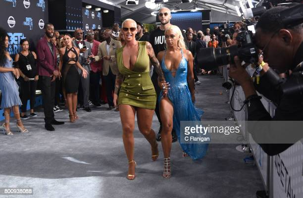Amber Rose attends the 2017 BET Awards at Microsoft Theater on June 25 2017 in Los Angeles California